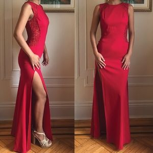 Flavio Castellani Red prom wedding dress
